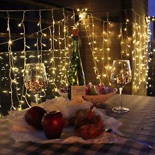 3Mx3M 300 LED Curtain Net Light Christmas Party Wedding Decor Outdoor Warm White