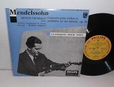 "S 06.112 R Mendelssohn Violin Concerto Arthur Grumiaux Vienna Sym Orc Moralt 10"""