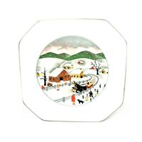 """Mikasa Songs of the Four Seasons Small Plate 7"""" AH Winter Replacement"""