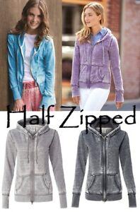J. America Ladies Vanity Zen Yoga Fleece Full-Zip Hooded Sweatshirt 8913 S-2XL