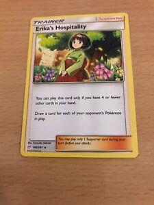 Pokemon Card Erika's Hospitality 140/181 Inc Free Card Deal
