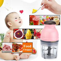 Mini Electric Chopper Mixer Blender Baby Food Processor Slicer Kitchen Tool 250W