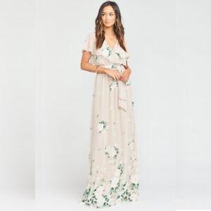 Show Me Your MuMu Audrey Maxi Dress Size XL Womens Floral Bouquet Toss *NO SASH*