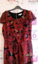 GORGEOUS FLORAL RED TEA DRESS, size 12, WEDDING