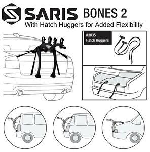 Saris Bones 805BL Black 2-Bike Trunk Rack with Pair of Hatch Huggers