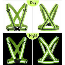 Safety Night Running Vest Belt Bracelet Hi-Vis High Visibility Reflective Jacket