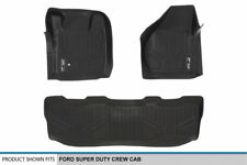 MAXLINER All Weather Floor Mats for Ford F-250 F-350 F-450 CrewCab 08-10 Black