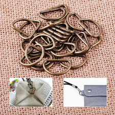 25pcs 20mm Metal D Ring Buckle fit Strapping Webbing Purse Leather Bag Crafts