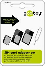 SIM Card Kartenadapter Set 3in1 SIM Nano Micro Samsung + Öffner für iPhone Pad