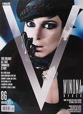 WINONA RYDER Winter 2013 V Magazine #86 CINDY CRAWFORD  M.I.A. GOES GLAM   NEW!