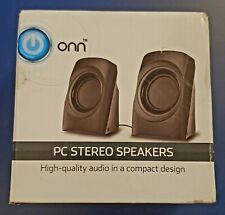 ONN PC Stereo Speakers  With Integrated Volume Control ONA 18H0009
