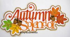 Autumn Splendor boy girl paper piecing title premade scrapbook page  by Rhonda
