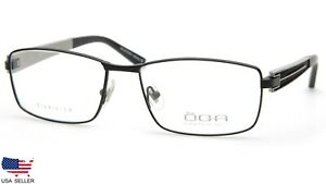 NEW OGA 7412O NN030 MATTE BLACK EYEGLASSES GLASSES FRAME 57-17-145 B36mm France