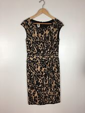 Anne Klein Animal Print Wrap Dress, Size 8