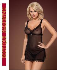 Lingerie Femme Nuisette 839-che Noir Taille S/m - Obsessive