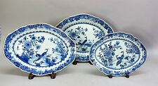 Fine Set of Matching 18th C. CHINESE EXPORT Nesting Platters  c. 1760  antique