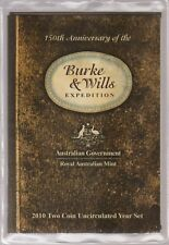 Australia - 2010 Burke and Wills   -  Two coin Uncirculated  Set .. (Z)