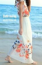 FLORAL MAXI BOHO DRESS SIZE 10 AU WOMENS NEW