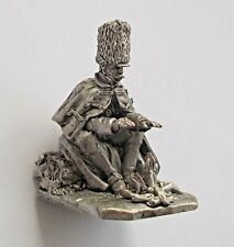 1/30 French Soldier Resting Camp Bonfire Napoleonic Wars Tin Metal Miniature NEW