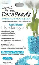 Blue Deco Beads - Water Storing Spherical Gel Beads - Floristry Crystal Accents