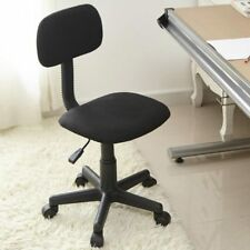 Sedia Poltrona da Ufficio Casa Cameretta con Ruote in Tessuto Colore Nero