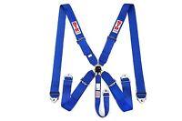 STR SFI 5-Point Racing Safety Harness Seat Belt Aircraft Camlock F1 F2 - Blue