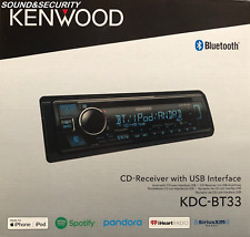 Kenwood KDC-BT33 Single-DIN In-Dash AM/FM CD Receiver with Bluetooth & SiriusXM