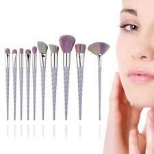10x Women Mermaid Fan Eyeliner Blush Cosmetic Concealer Makeup Brushes Kit
