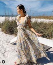 NEW Zimmermann Frilled design Floral print Super Eight Gown dress 0,1,2