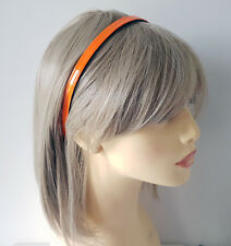 1cm wide bright flourescent neon orange  headband - aliceband * NEW *