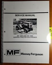 Massey Ferguson MF 1655 1855 Garden Tractor with Mower Service Manual 8/78
