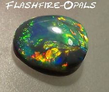 "GEM NOBBY OPAL ""RINGSTEIN"" BRILLIANT ROT GRÜN GOLD ORANGE! Video FLASHFIRE-OPALS"