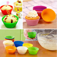 Silicone Cup Cake Liners Mold Mould Kitchen Bakeware Baking Pastry Tools 12pcs