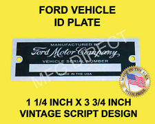 "GENERIC VEHICLE ID TAG SERIAL NUMBER DATA PLATE (BLANK) 1 1/4"" X 3 3/4 ALUMINUM"