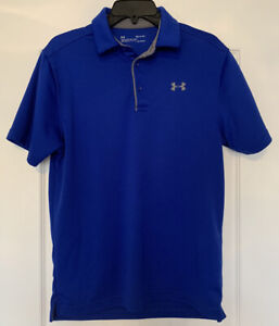 Under Armour Blue Polo Shirt Size Small