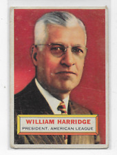 William Harridge 1956 Topps  #1