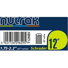 """4x Bike/Buggy 12"""" Nutrak Inner Tube 12 1/2 x 2 1/4. 45Deg Angled Schrader Valve"""