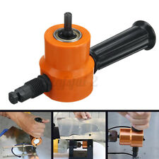 Saw Cutting Drill Attachment Double Head Sheet Nibbler Metal Cutter Tool Set