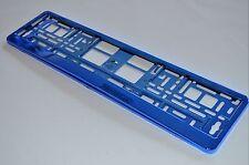 2 Stück Chrom Blau Kennzeichenhalter Nummernschildhalter Schildhalter NEU