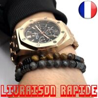 Bracelet Mode Géométrique Homme Pierre Perle Aimant Charme Bijoux Idée Cadeau