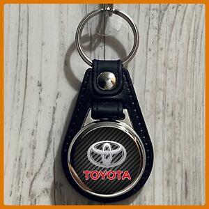 Single Sided Leather Keychain Toyota