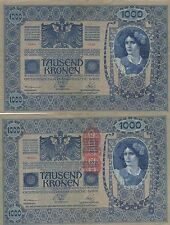 AUSTRIA 1000 KRONER. 2 de Junio de 1902. Serie 1548. Nº 56528. Tamaño 193x130.
