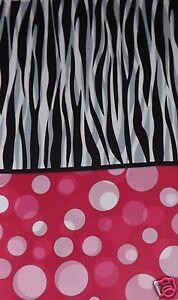 Zebra Stripe Polka Dot Party Set, Birthday, Baby Shower, Graduation, Table Cover