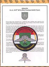 10th Special Forces Group Airborne ODA-074 MFF haho halo patch & Certificate