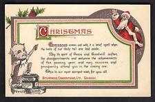 Grimsby. Bituminous Compositions Santa Claus Greeting.