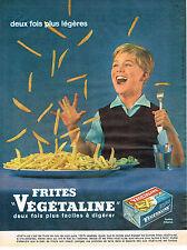 PUBLICITE ADVERTISING 1961 053 VEGETALINE huile à la noix de coco         300513