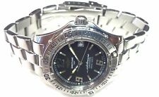 BREITLING 34mm COLT OCEANE BLACK DIAL STAINLESS STL WOMENS 550M WR WATCH A57350