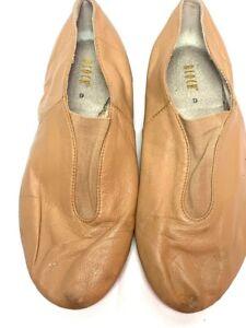 Bloch Womens Jazz Slip On Comfort Shoes Beige Low Top 6