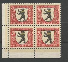 Schweiz MiNr 231 postfrisch im 4-er Block Eckrand 3 - Pro Juventute 1928