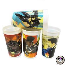 Vtg 90s Set of 4 Batman Returns Plastic Promo Collectable Cups Mcdonalds